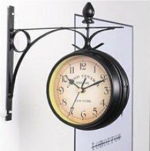 Horloge de gare double face Murale Rétro,Horloges
