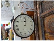 Horloge de gare double face style anglais - grand