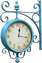 Horloge de Gare Double Horloge Murale Vintage