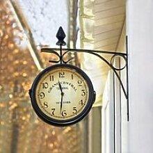 Horloge de Gare Rétro aevc Double Face Horloge