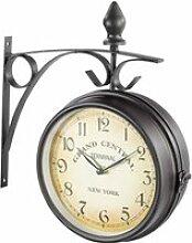 Horloge de gare rétro double face