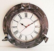 Horloge de hublot Nautique de Bateau en Laiton