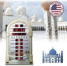Horloge de prière de mosquée islamique Azan,