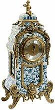 Horloge de Table Accueil Salon Horloge Bleu et