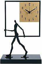 Horloge de table Carré géométrique bureau