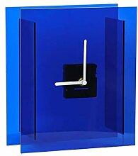 Horloge de Table Creative Home Blue Carré Horloge