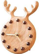 Horloge de Table Horloge Desktop Horloge en bois