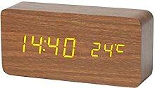 Horloge de Table Horloge rétro table en bois