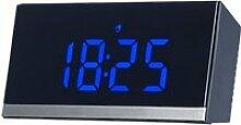 Horloge de table radio-pilotée à LED - Noir /