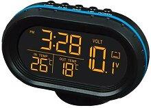 Horloge de température de voiture multifonction,