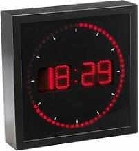 horloge digitale murale avec 60 led - rouge []