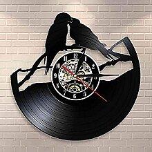 Horloge Disque Vinyle Perroquet sur Branche