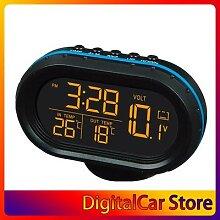 Horloge électronique multifonction noire,
