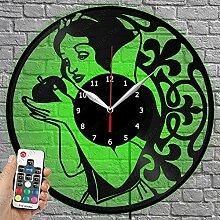 Horloge en vinyle à LED – Blanche Neige –