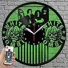 Horloge en vinyle à LED – Zombie blanche –