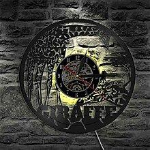 Horloge en Vinyle de Style Zoo Girafe avec