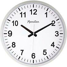 horloge grand format a quartz silver
