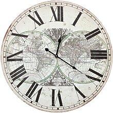 Horloge hémisphère avec chiffre romain en bois