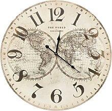 Horloge hémisphère en bois mdf D58
