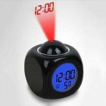 Horloge,Horloge et veilleuse Réveil, lumière de