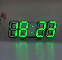 Horloge,Horloge murale numérique 3D Led, Design