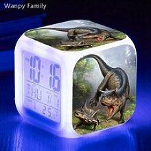 Horloge,Jurassic réveil numérique dinosaure,