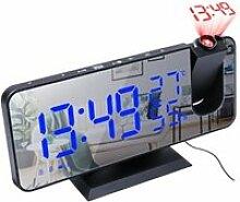 Horloge,LED réveil numérique Radio Projection