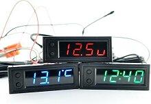 Horloge multifonction 12v Dc, haute précision,