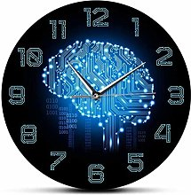 Horloge murale 12 pouces Code binaire Art