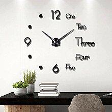 Horloge Murale 3D Bricolage Grande Horloge Murale