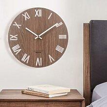 Horloge murale 3D en bois massif, Design moderne,