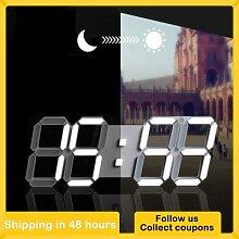 Horloge murale 3D réveil Digital veilleuse