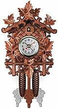 Horloge murale à coucou en bois faite à la main