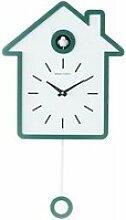 Horloge murale à coucou, pendule moderne