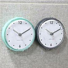 Horloge murale à ventouse étanche pour salle de