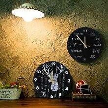 Horloge Murale américaine Silencieuse Ronde