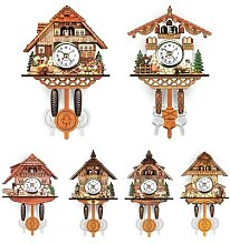 Horloge murale Antique suspendue en bois, horloge