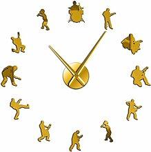 Horloge Murale Bande De Musique Moderne 3D Muet