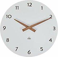 Horloge Murale - Bois -Quartz - Silencieuse -