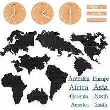 Horloge murale carte du monde Art salon chambre
