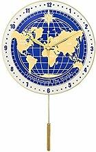 horloge murale Carte du monde Horloge murale