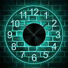 horloge murale Chiffres arabes LED Horloge murale