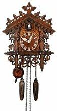 Horloge murale coucou classique, horloge en bois