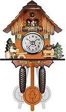 Horloge murale coucou en bois antique oiseau temps