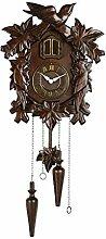 Horloge Murale Coucou en bois fait main brun peut
