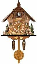 Horloge murale coucou en bois Motif forêt noire
