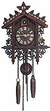 Horloge murale coucou suspendu en bois Vintage