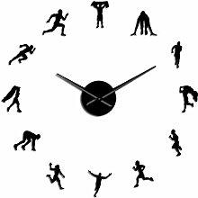 Horloge Murale Course À Pied Athlète Portrait