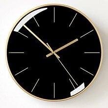 Horloge murale de luxe à Quartz, silencieuse,