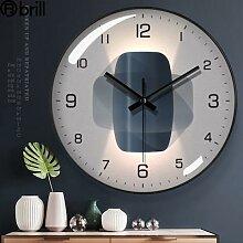 Horloge Murale de luxe, grand format, silencieuse,
